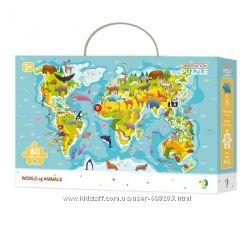 Яркий пазл Карта мира Dodo
