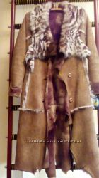 Зимняя женская натуральная модная дубленка