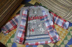 комплект двойка рубашка и футболка на 2-3 года