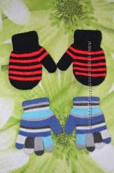 варежки и перчатки на мальчика от 1-2. 5 лет