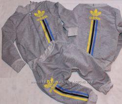 Детский спортивный костюм Адидас, двунитка, размеры 80-110