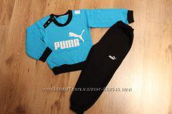 Спортивные костюмы с начесом. Адидас, Найк, Пума, 1-5 лет