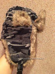 Зимняя шапка ушанка , хаки, размер 56