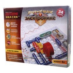 Конструктор - ЗНАТОК Первые шаги в электронике - 34 схемы, набор