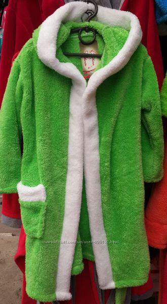 теплые халаты для деток. софт. на запах и на замке.