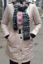 стильные деми пальто -двойка для женщин. с-2хл. в двух цветах.