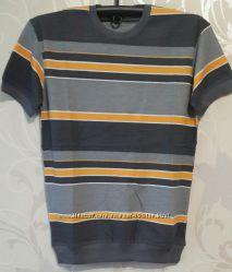 мужские футболки на манжете. коттон. пике. м-2хл. Расцветки. Турция