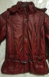 Женские демисезонные куртки. Оливковый и бардовый цвет. Размер л.