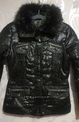 Зимние женские куртки. Утеплитель синтепон.  Цвет черный. Л- 2хл.