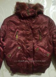 Женские зимние куртки. Молодёжка. Цвет бардовый. М-Хл.