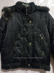 Зимняя женская куртка. Утеплитель синтепон.  Цвет черный.  Размер хл.