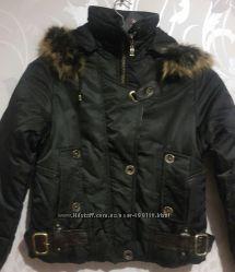 Зимние женские куртки. Утеплитель синтепон. Чёрный и коричневый цвет. М-3хл