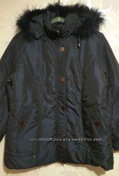 Женские зимние куртки. Батал. Сиреневый и синий цвет. 52-62р.