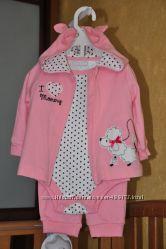 Классный костюмчик для девочки 6 мес FIRST IMPRESSIONS