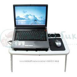 столик на ноутбук з вентилятором