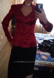Блузка рубашка шелковая синтетическая OGGI