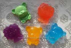 Детское мыло ручной работы Веселые зверята - Львенок и Медвежонок