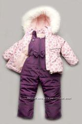 Зимний детский костюм-комбинезон Bubble pink для девочки