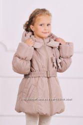 Куртка-пальто зимняя для девочки бежевый