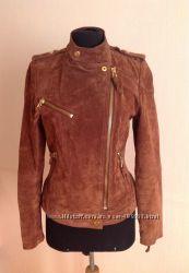 Замшевая кожаная куртка Mango S
