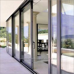 Подъемно-раздвижные двери из алюминия Profilco, Alutech