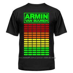 Футболка светящаяся Armin van Buuren, эквалайзер