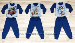 Детская теплая пижама, начес, 86-92р. , 92-98р. , 98-104р. , 110-116р. , 116-12