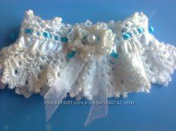 Свадебная подвязка ручной работы