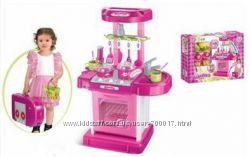 Детская кухня-чемоданчик. Со звуком и светом. Супер цена
