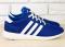 Кроссовки adidas синие с белыми вставками