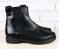 Ботинки деми кожа черные, вставки под питона