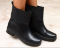 Ботинки деми черные кожаные, на резинках