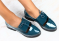 Туфли кожа лак, изумрудные
