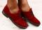 Туфли, цвета марсала, замшевые на черной подошве