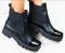 Ботинки кожаные с лаковым носком, на резинке