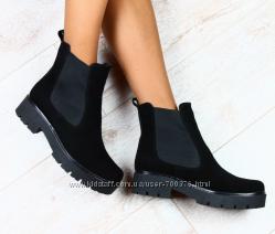 Ботинки замшевые на резинке