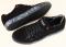 Спортивные туфли черные из натуральной замши