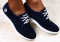 Туфли спортивные замша синие, на белой подошве Timberland