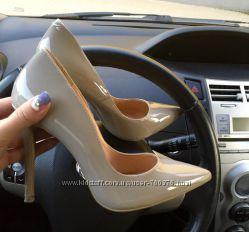 Туфли - Лодочки серые лаковые