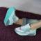 Кроссовки в стиле Аир Макс, серо - голубые