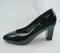 Туфли на устойчивом каблуке, черные