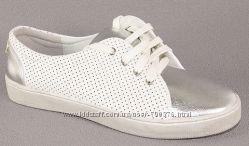 Кеды белые серебристый носок