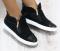 Ботинки комбинация замши и лака, белая подошва
