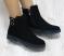 Ботинки замшевые с застежками