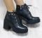 Ботинки кожаные на шнуровке демисезонные