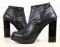Ботинки демисезон черные кожаные на устойчивом каблуке