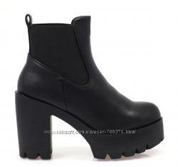 Ботинки тракторы черные