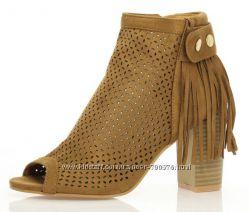 Ботинки, перфорация, открытый носок, 3 цвета