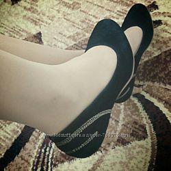 Туфли черные, на невысоком каблуке, удобные
