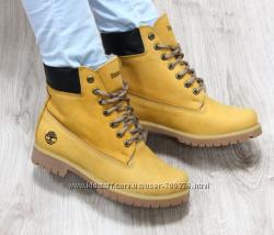 Ботинки Timberland зимние, песочного цвета